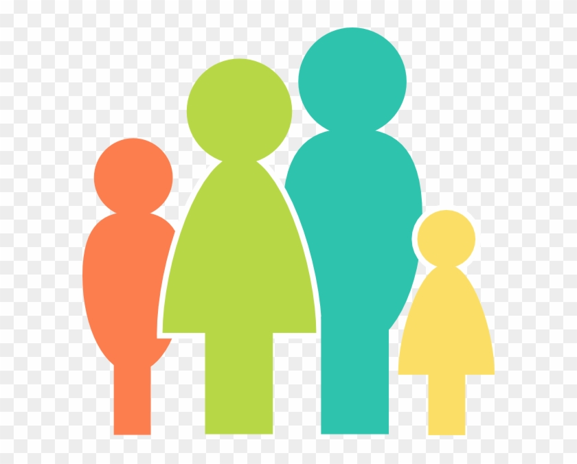 Multicolor Family Clip Art At Clker - Family Icon Png Vector #19348