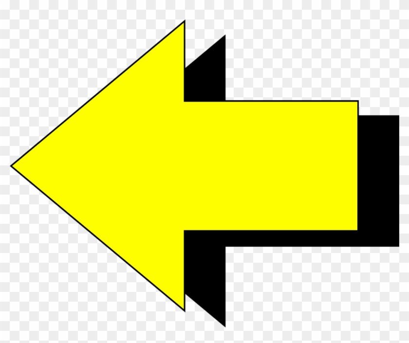 Yellow Directional Arrows Free Cliparts All Used For - Arrow Pointing Left No Background #19377