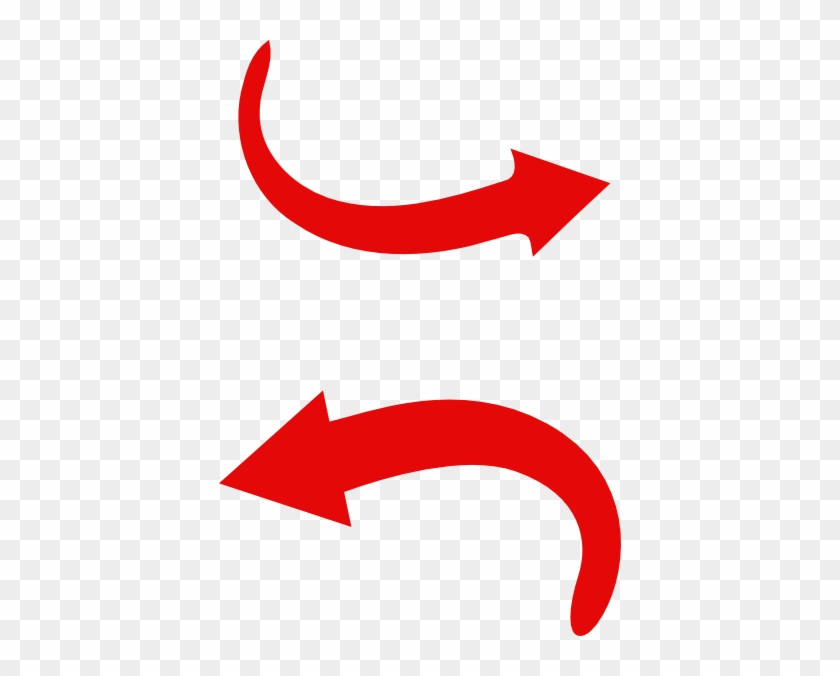 Red Arrow Curve Clip Art - Curved Red Arrow Png #19408