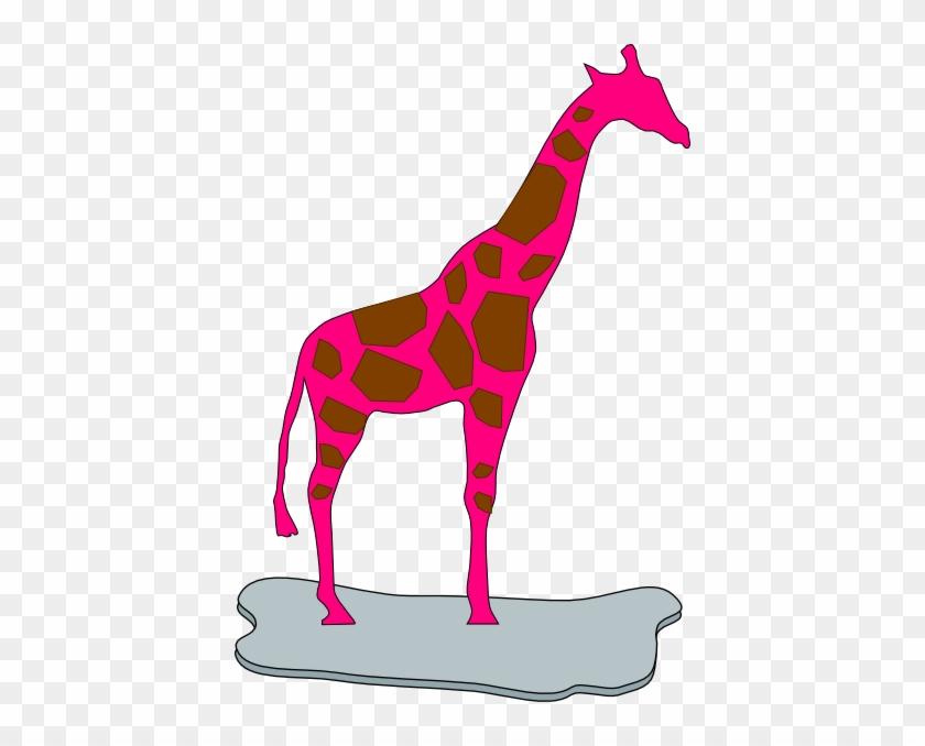 Pink Giraffe Clipart - Geometric Art Girafe #19419