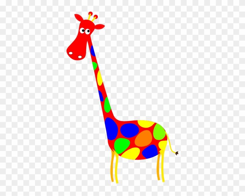 Red Spotted Giraffe Clip Art At Clkercom Vector - Red Giraffe Cartoon #19421