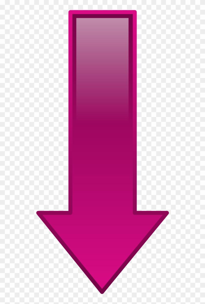Down Arrow Clipart - Purple Arrow Pointing Down #19444
