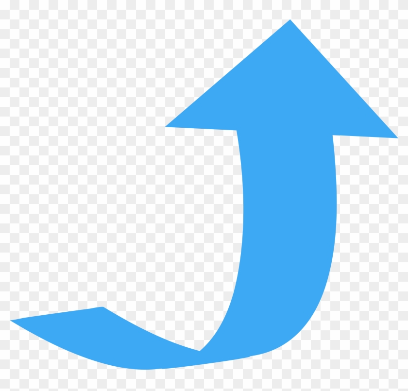 Directional Arrows Curved Wide Directional - Curved Arrows Pointing Up #19448