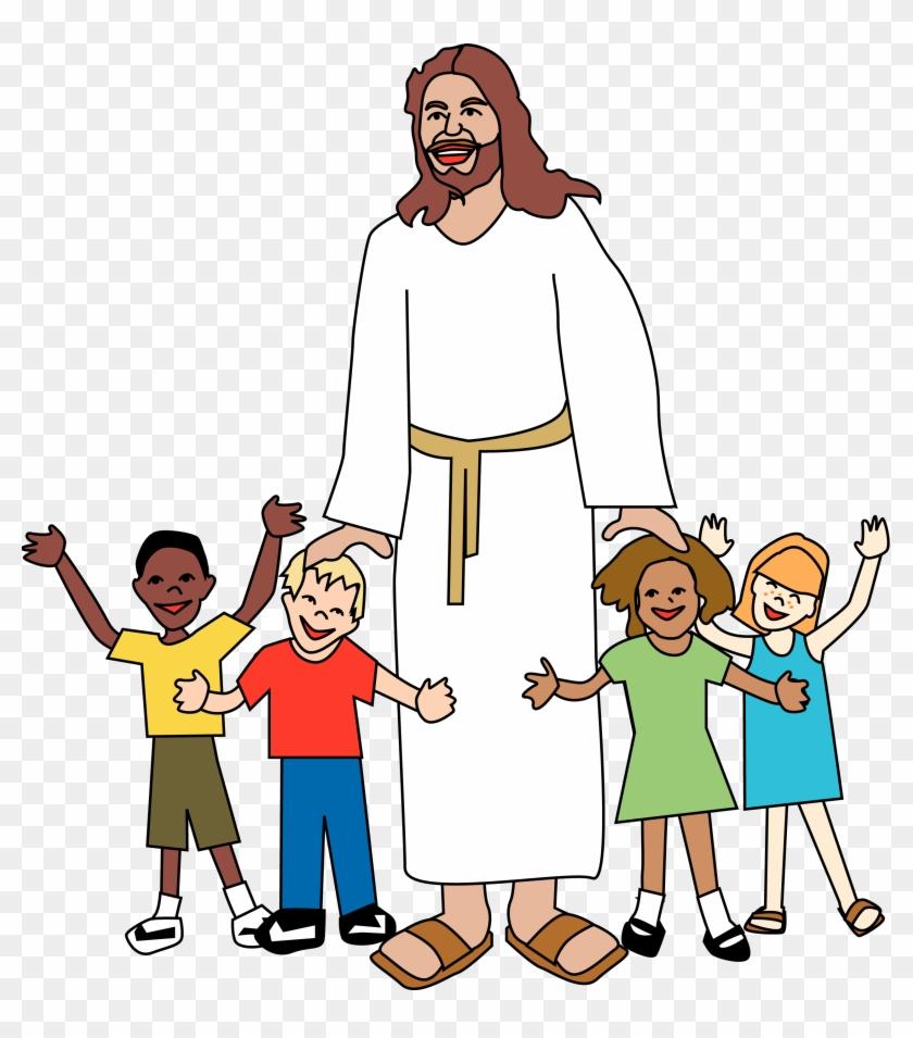 Sunday School Jesus Clip Art Merry Christmas Amp Happy - Jesus And Kids #19481