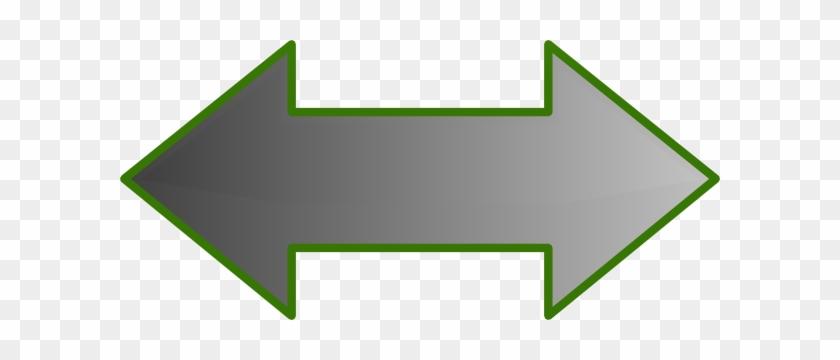 Graded Grey Arrow Clip Art At Clker - Double Ended Arrow Clipart #19482