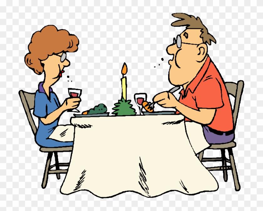 Restaurant Eating Clipart - Husband & Wife Jokes #19496