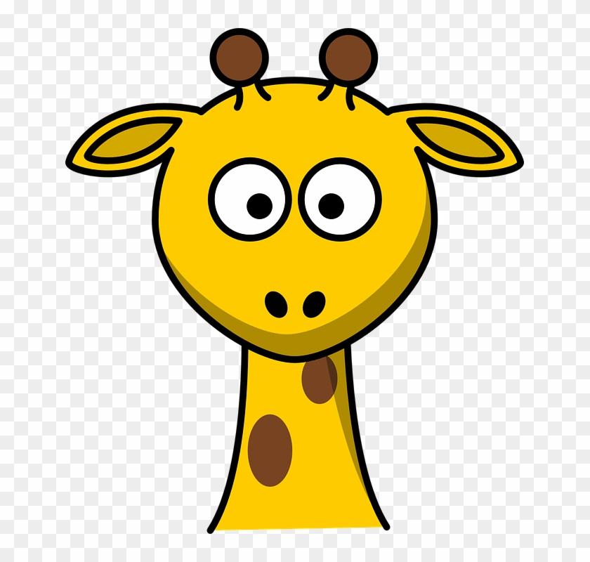 Cartoon Giraffe Face - Cartoon Giraffe Face #19518