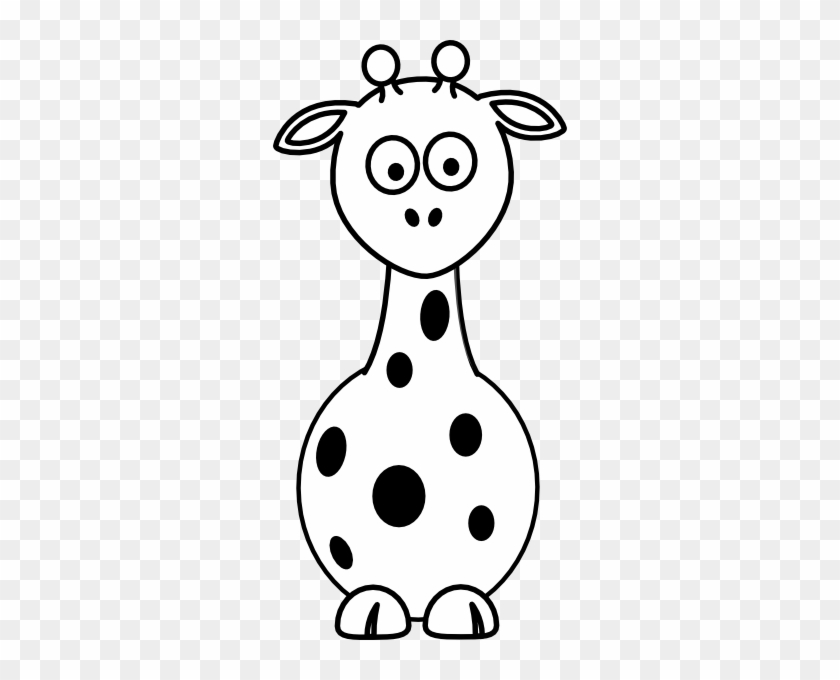 Black And White Giraffe Clip Art #19523
