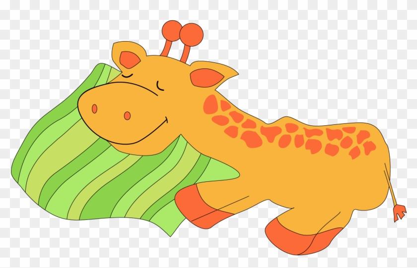 Giraffe Clipart For Kids - Animals Sleeping Clip Art #19540