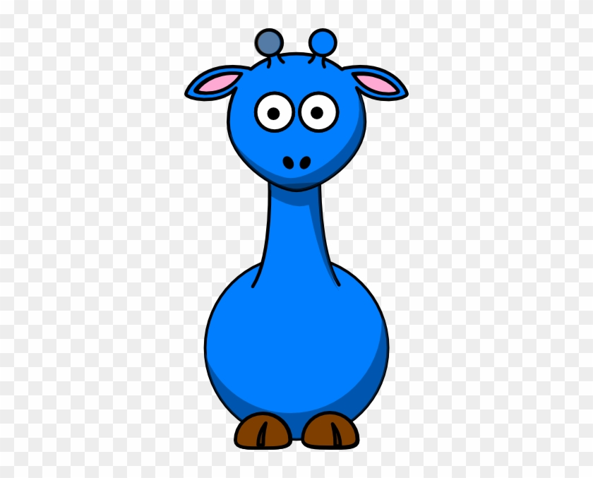 Blue Giraffe No Spots Clip Art - Cartoon Giraffe #19575