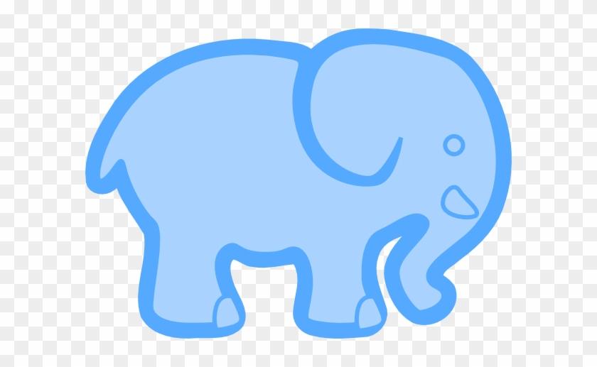 Baby Blue Elephant Clip Art - Blue Elephant Clip Art #19584