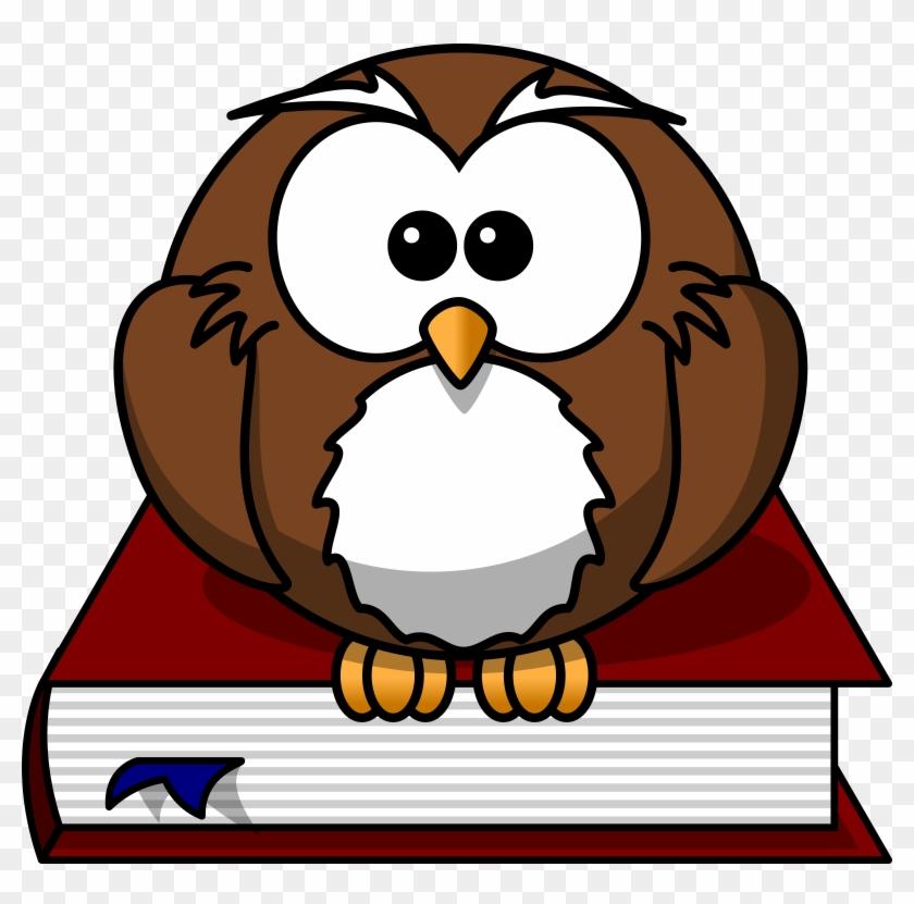 Smart - Owl - Clipart - Cartoon Owl With Book #19597