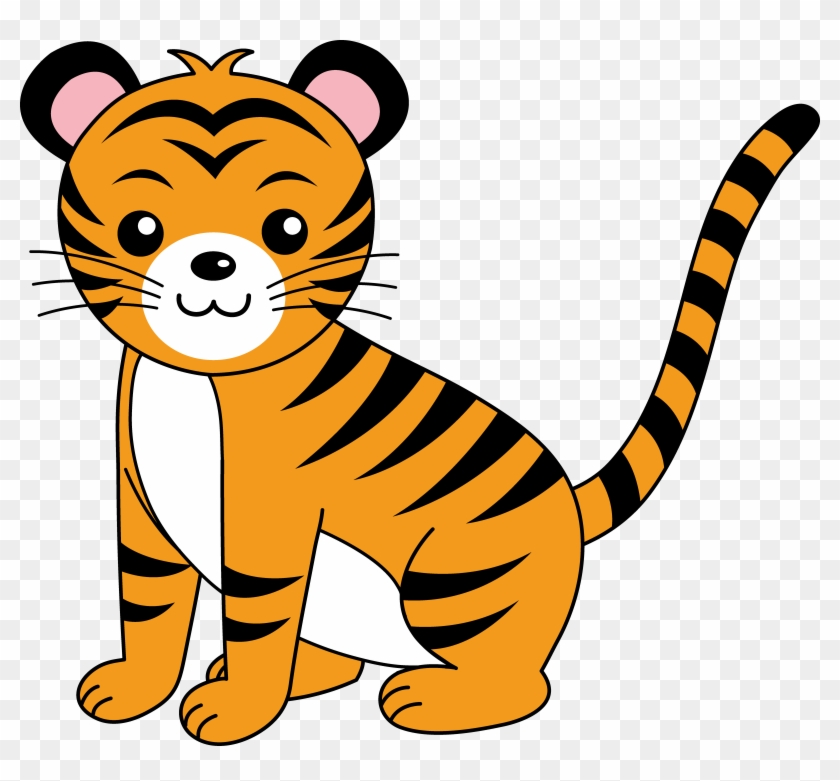 Tiger Cub Clipart - Clipart Tiger #19633