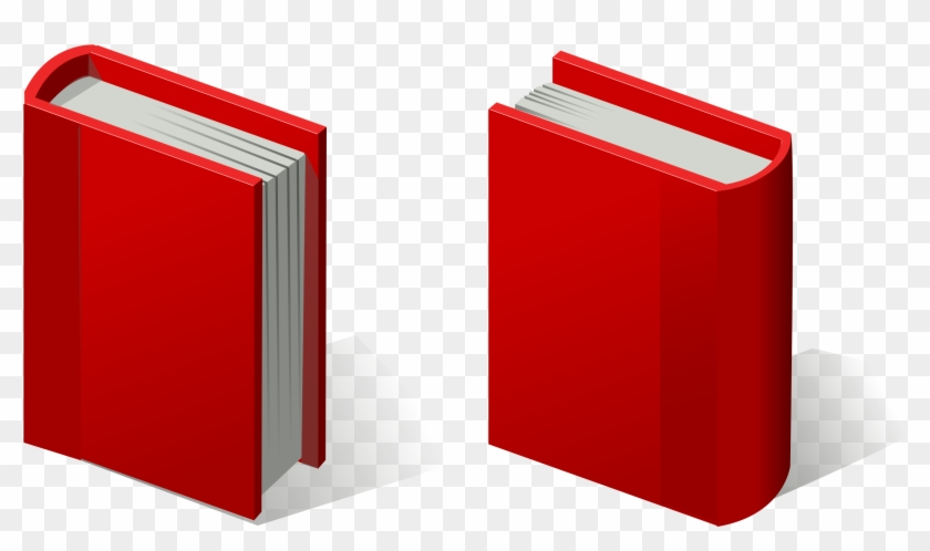 Vector Books - Clipart Red Book #19617