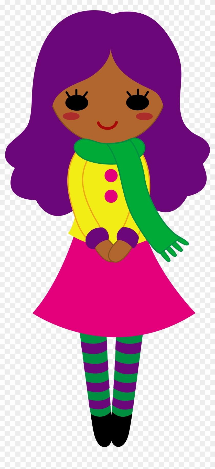 Cute Girl With Purple Hair - Girl Purple Hair Clipart #19644