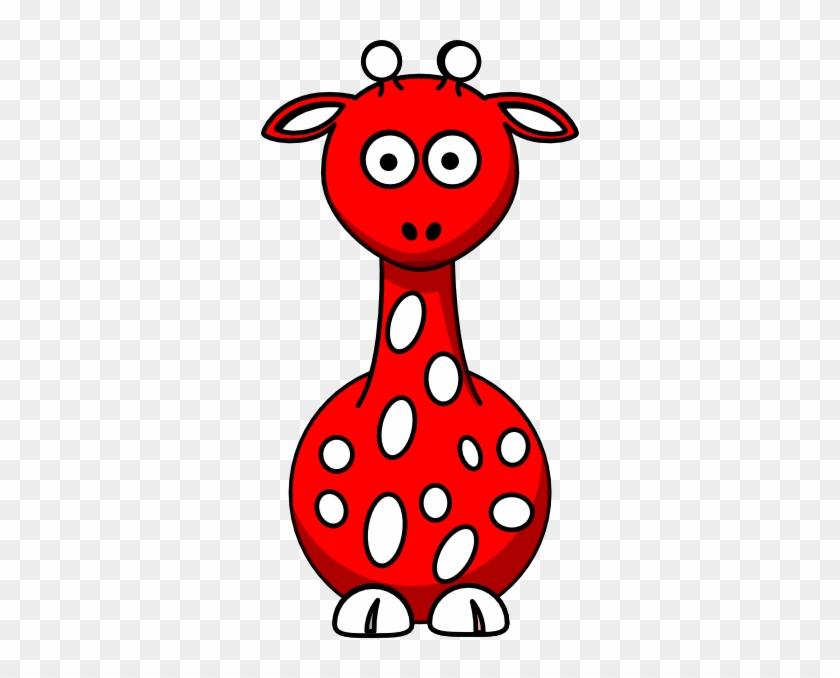 Red Giraffe Clip Art - Red Giraffe Clipart #19651