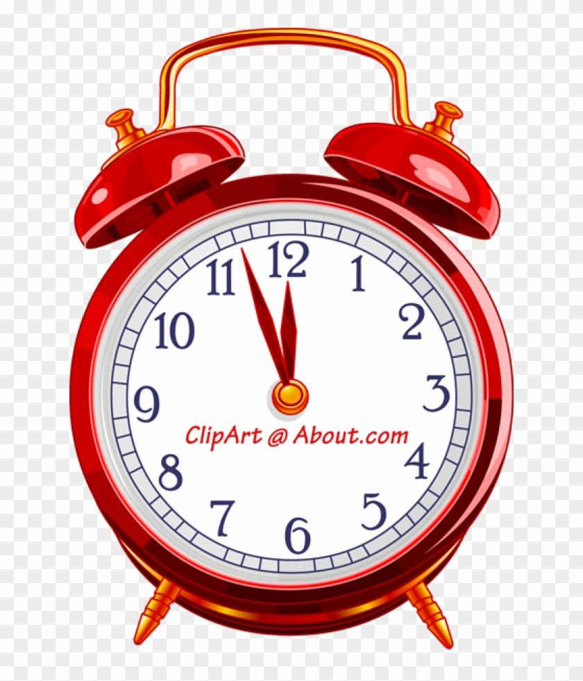Retro Alarm Clock Clip Art Ytp5ja Clipart - Uniware Wall Clock, 10 X 10 X 1.7 Inch, Small (white) #19747
