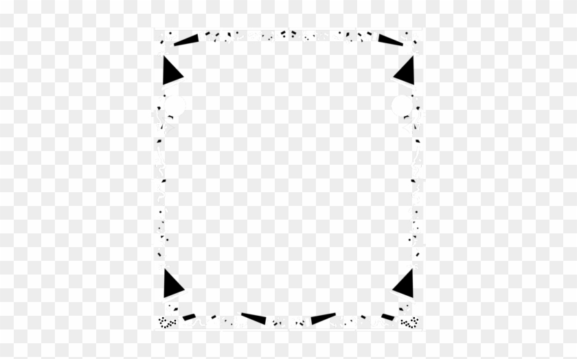 Clipart - Black And White Party Border #19779