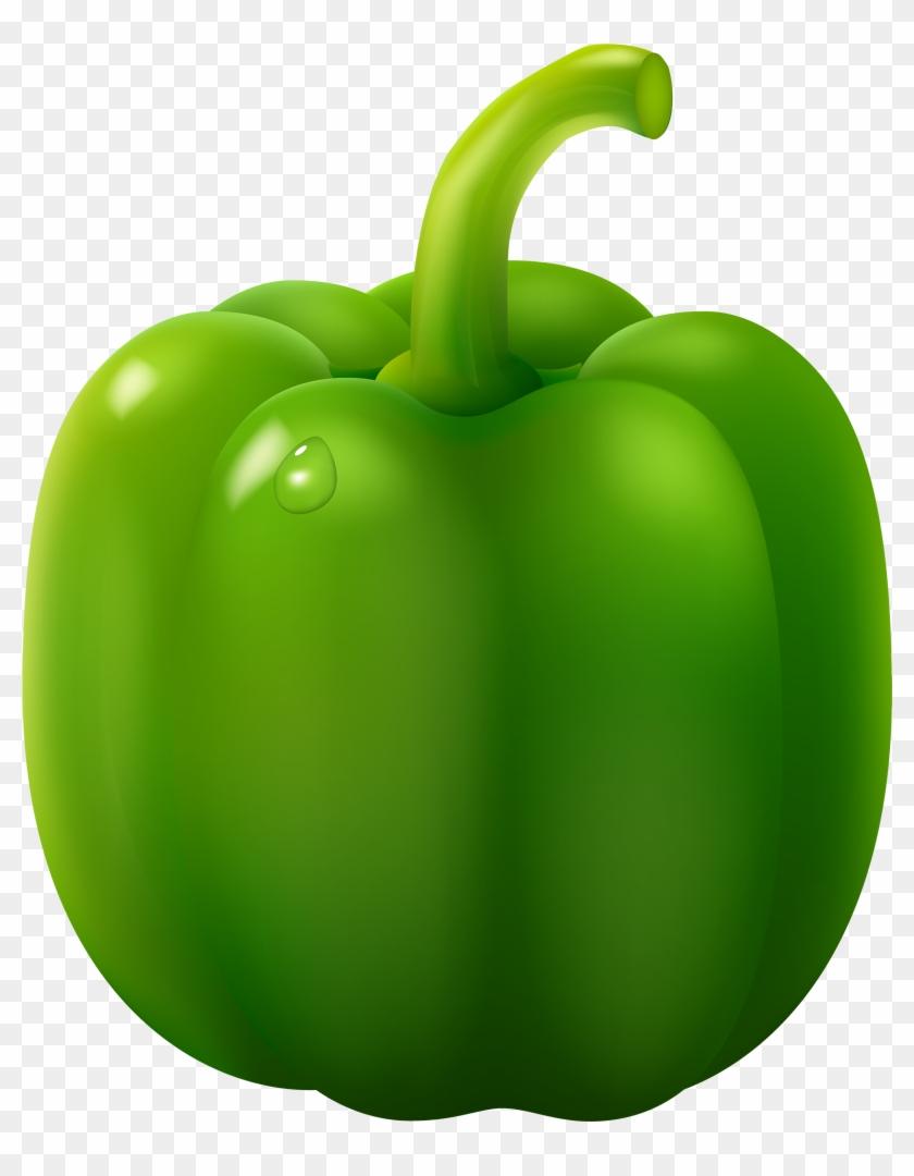 Green Pepper Png Clipart - Green Bell Pepper Clipart #19792