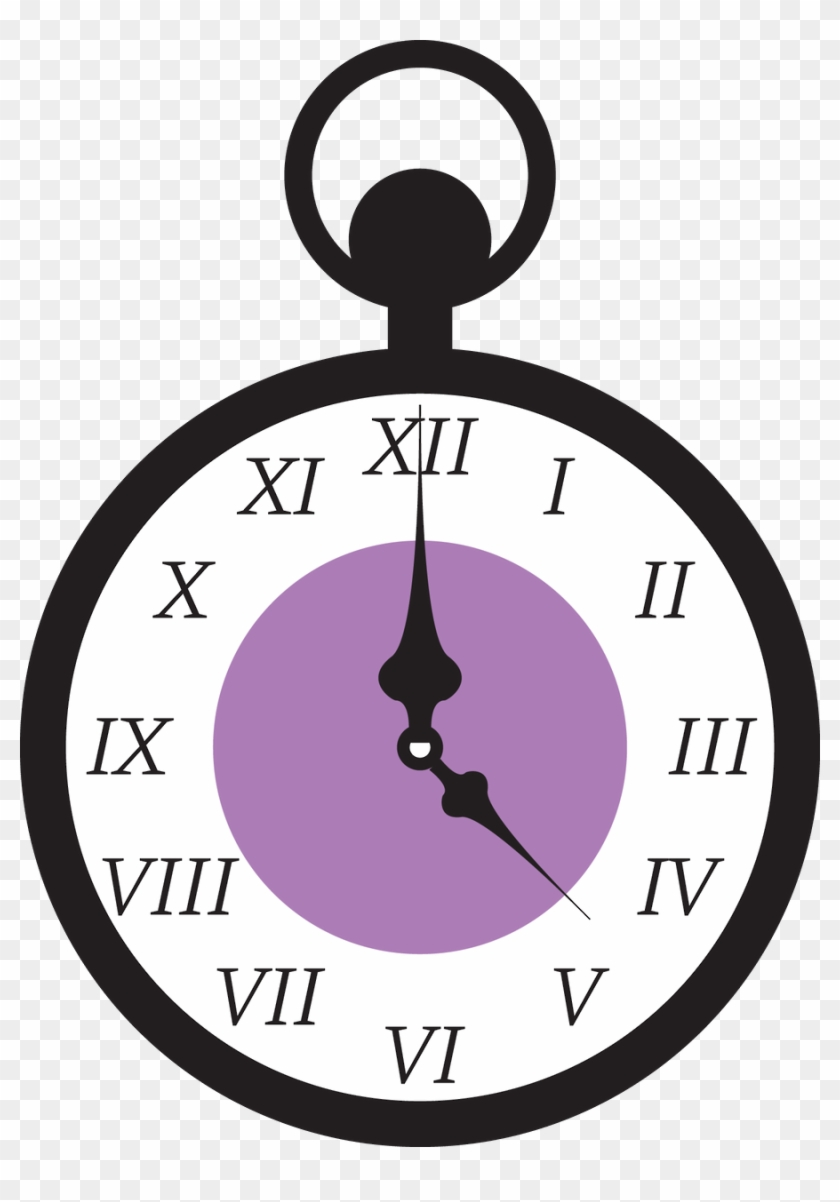 Say Hello - Alice Wonderland Clock Png #19803