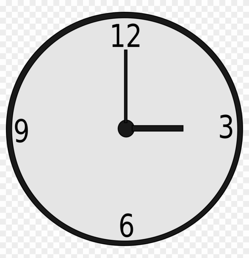 Clock Clip Art - 3pm Clock #19822