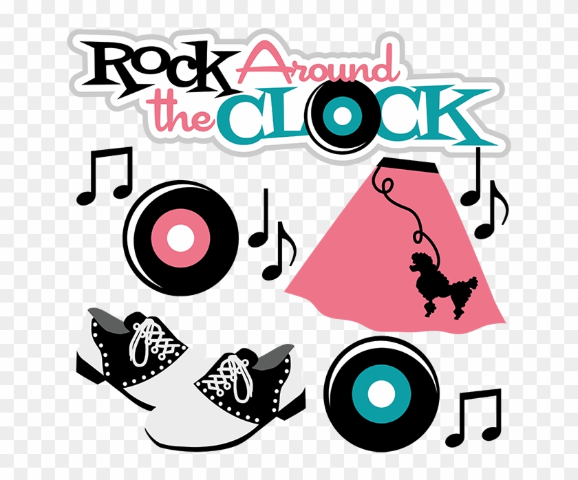 50s Clip Art - Rock Around The Clock Png #19828