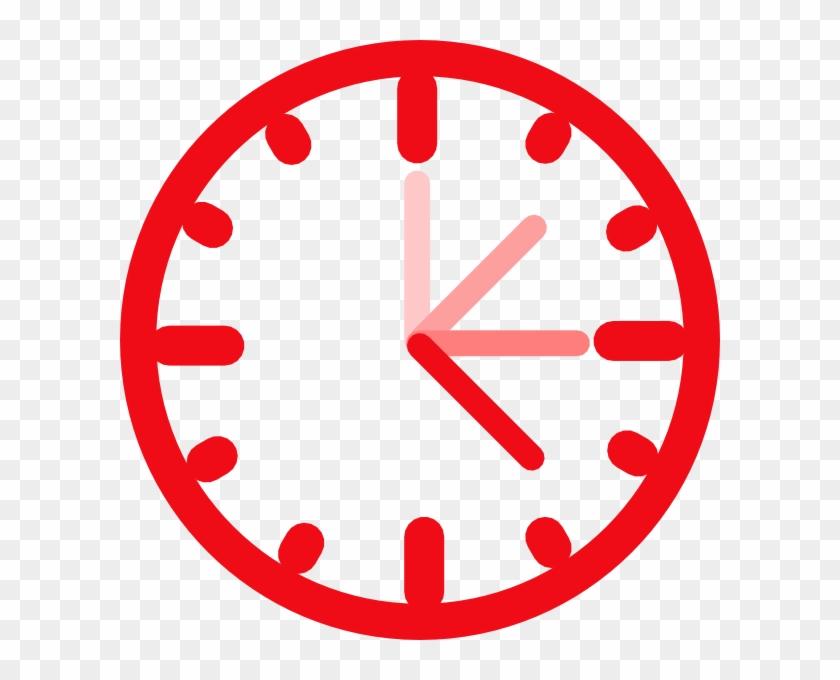 Awesome Clock Clip Art At Vector Clip Art - Clock Clip Art Red #19831