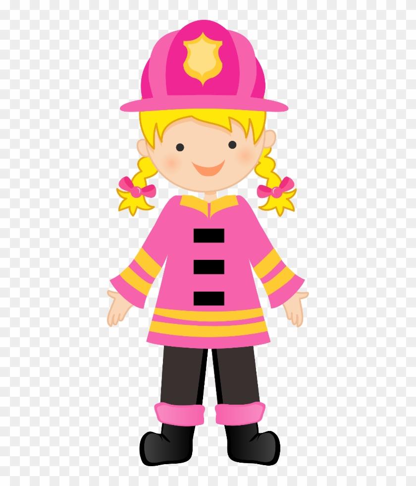 Bombeiros E Polícia - Pink Fire Truck Party #19837