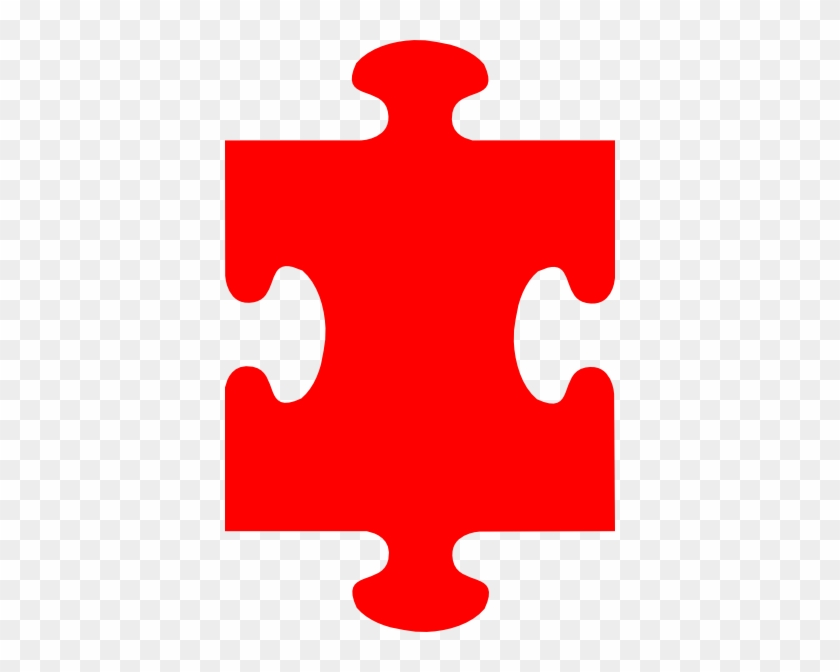 Puzzle Piece Red Clip Art At Clker - Early Years Foundation Stage #19856