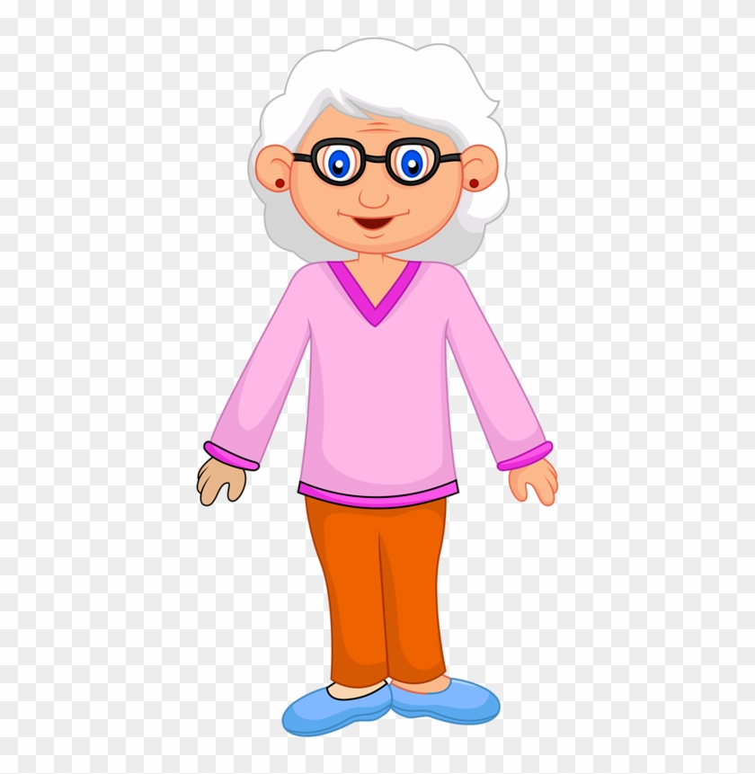 Family Clipartcartoon - Grandmother Standing Clipart #19860