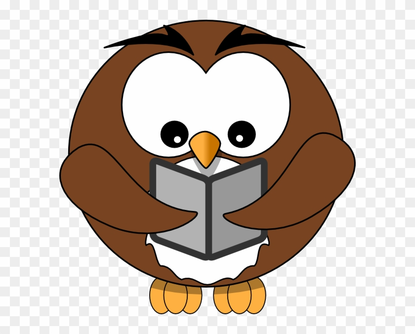 Book Clip Art - Owl Holding Book Clip Art #19866