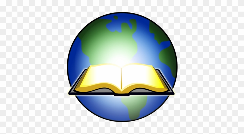 Image Open Bible Glowing Before Earth Clip Art And - Open Bible Clip Art #19877