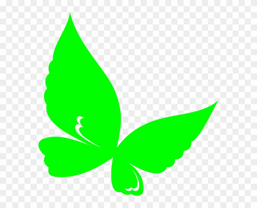Clip Art Butterfly Green Lemon At Clker Com Vector - Butterfly Green Clip Art #19879