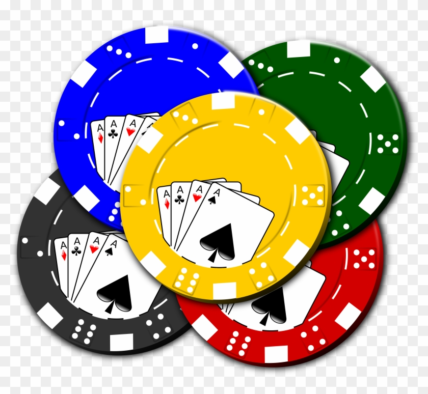 Full Color Decal Poker Playing Chips Sticker, Colored #19910