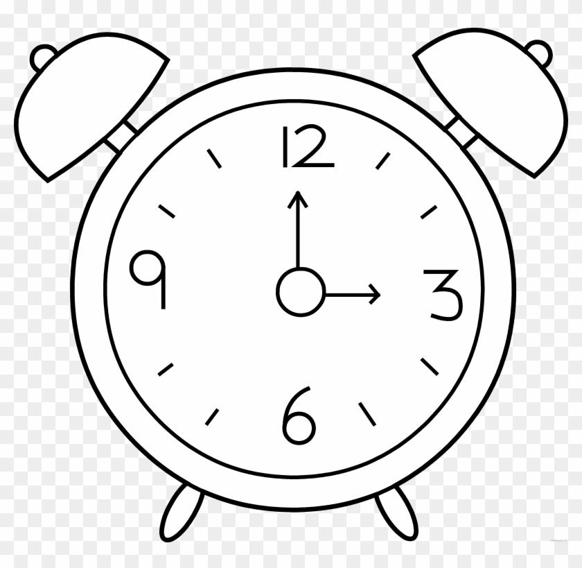 Alarm Clock Line Art - Beth Israel Deaconess Medical Center #19929