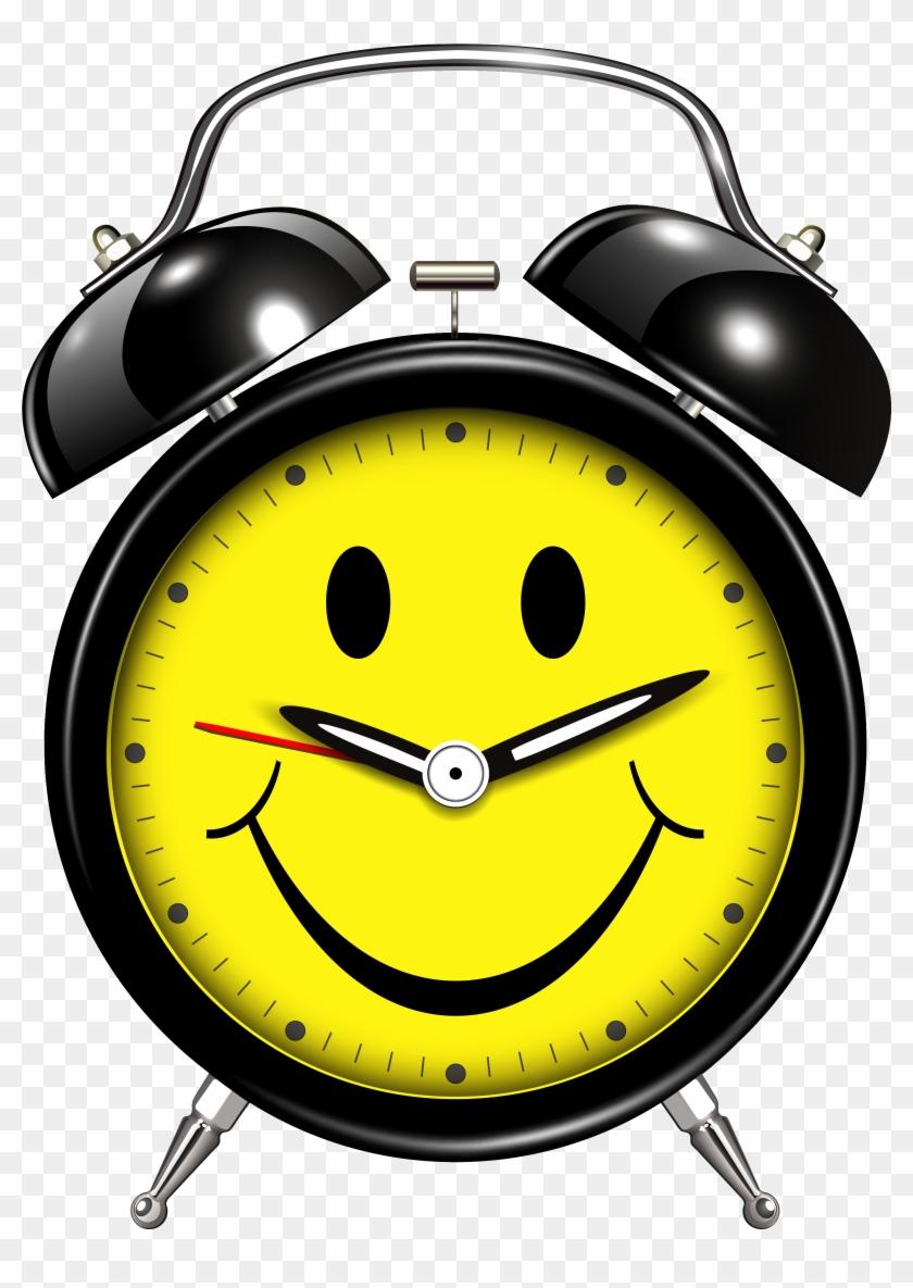 Smiling Alarm Clock Clip Art Web Clipart - Alarm Clock Clip Art Png #19930