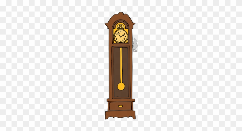 Clock Clipart Grand Father - Grandfather Clock Cartoon #19943
