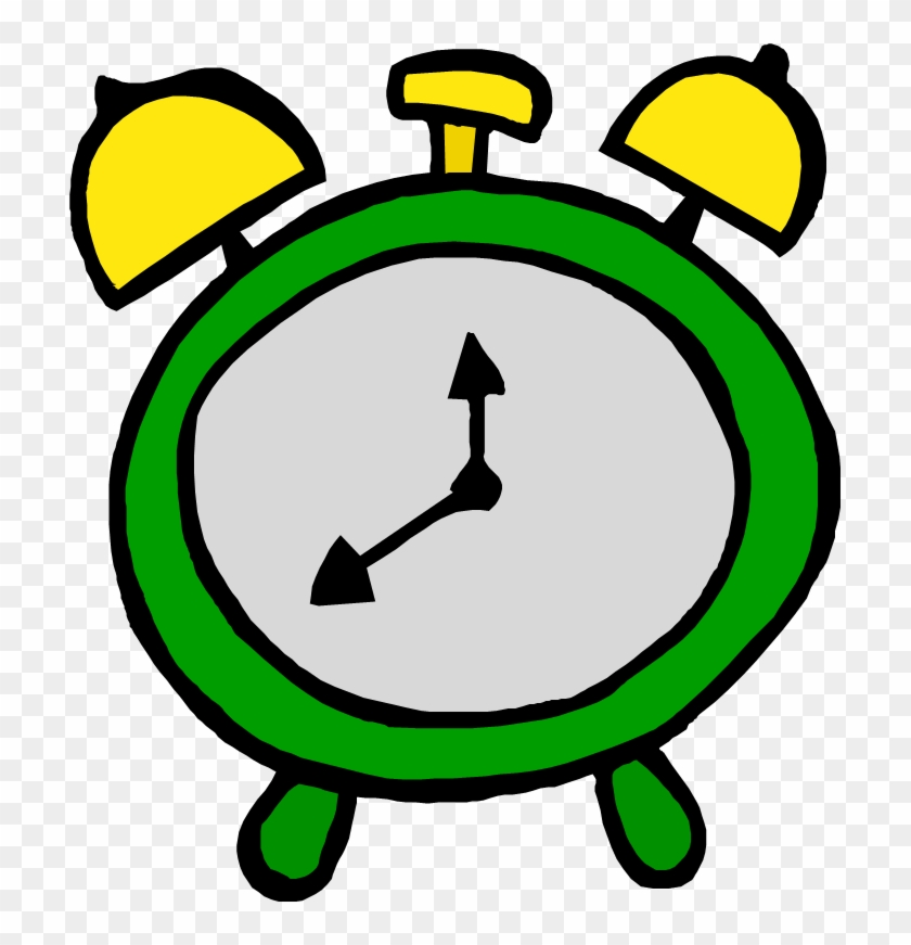 Webster On The Web - Clip Art Green Clock #19951
