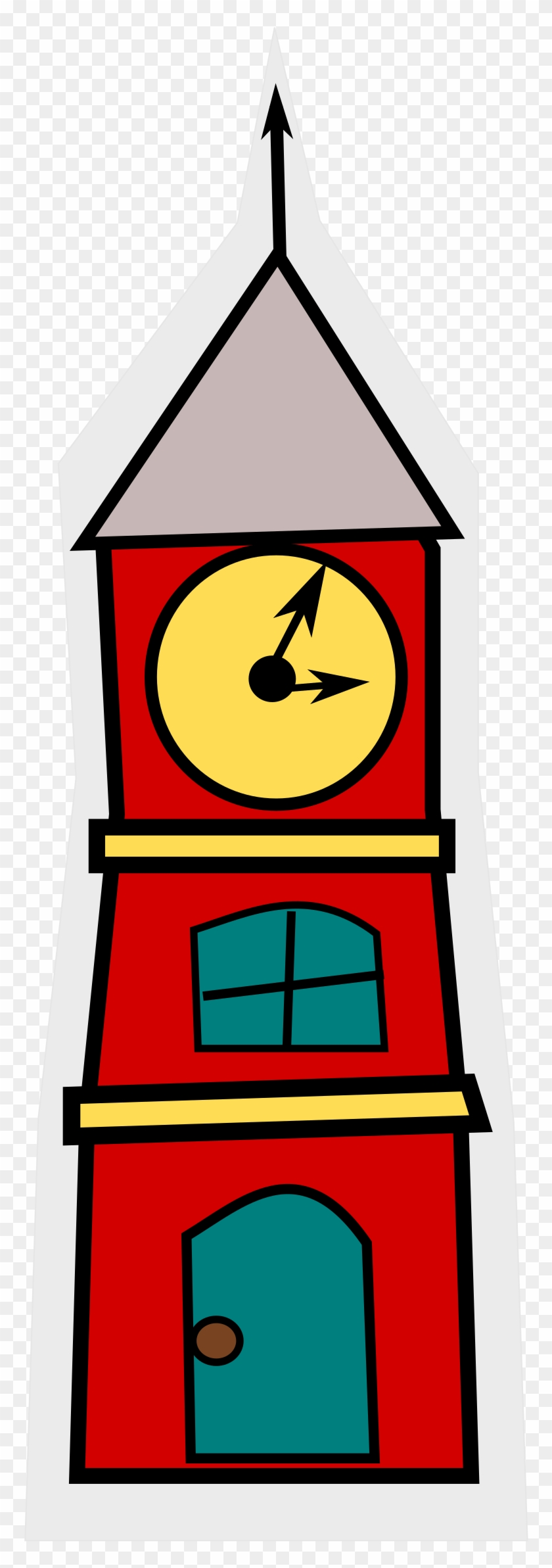 Town Council Clock Tower Cartoon Clipart - Clock Tower Clipart Png #19952