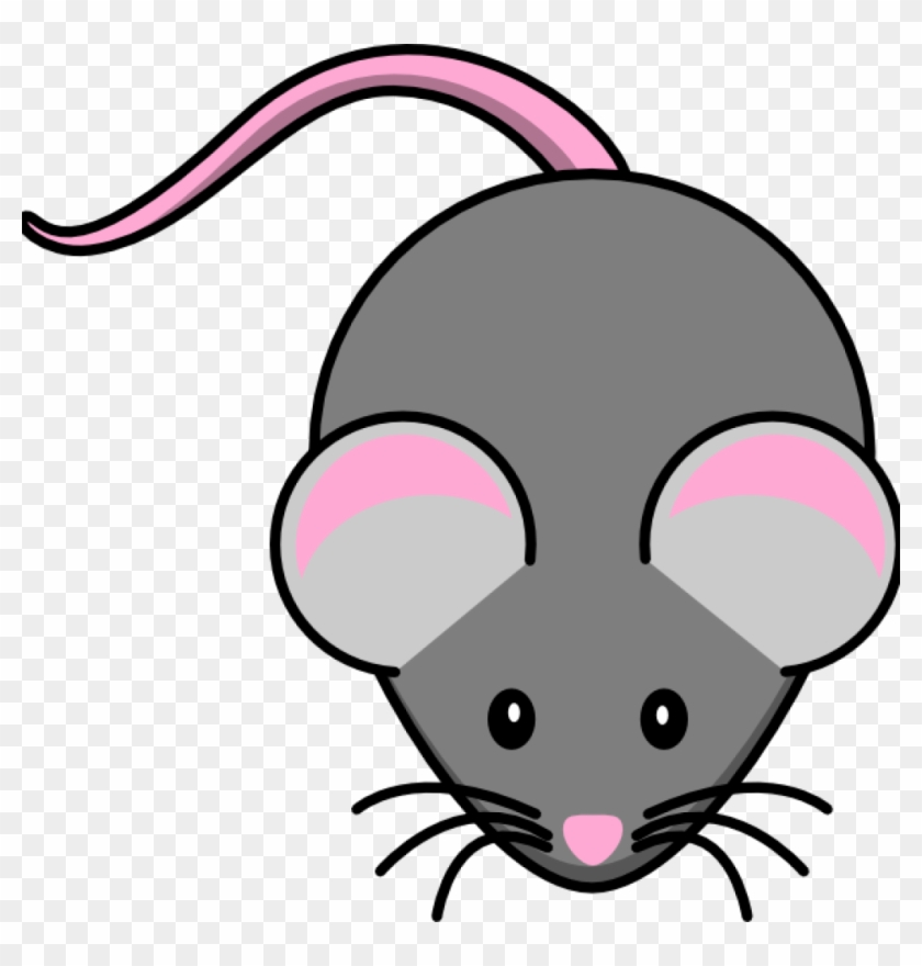 Mouse Clipart Pink And Grey Mouse Clip Art At Clker - Cute Mice Clip Art #19965