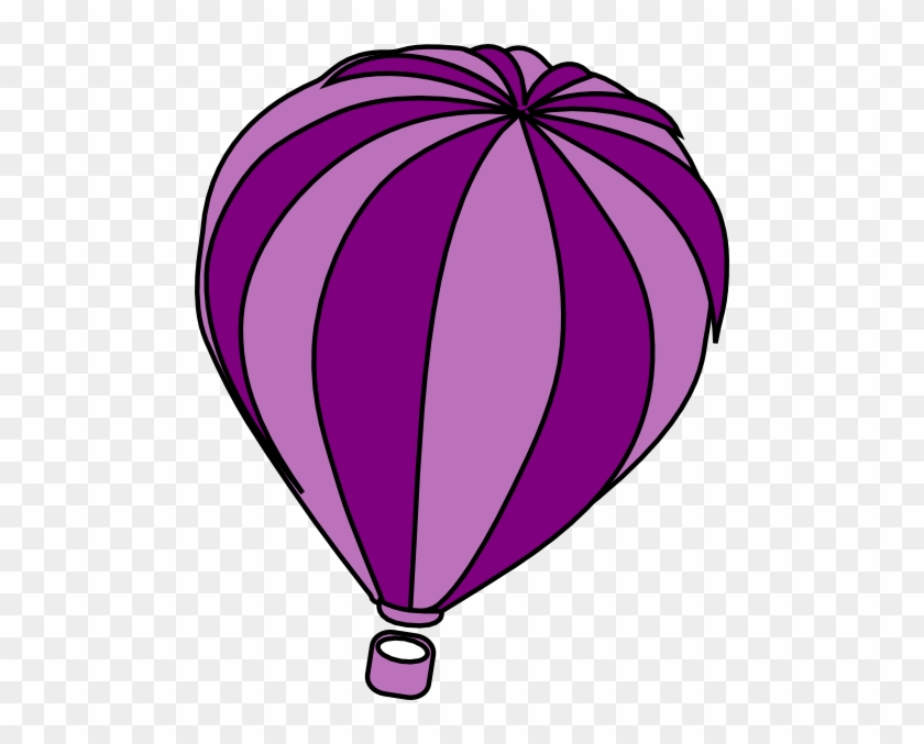 Hot Air Balloon Purple Clip Art At Clker - Purple Hot Air Balloon Clipart #19969