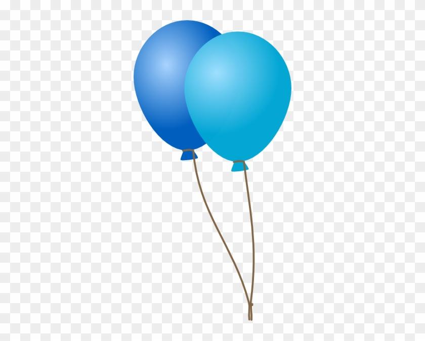 Blue Balloons Clip Art #19971