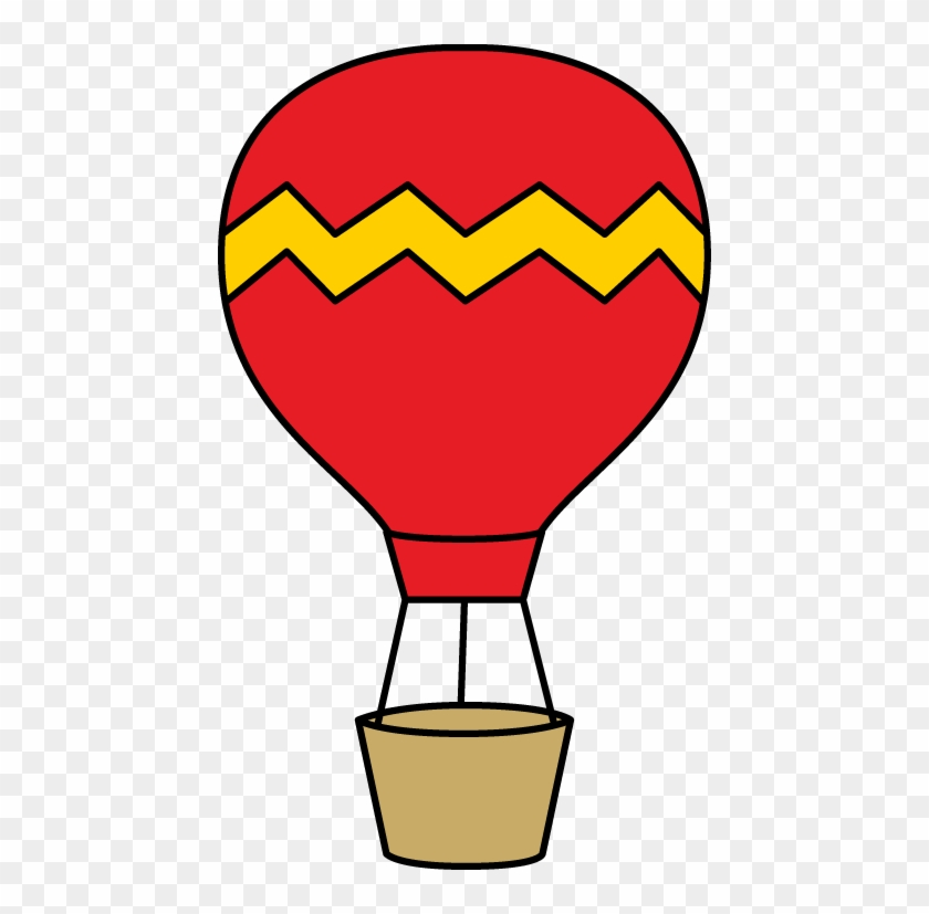 Red And Yellow Hot Air Balloon - Hot Air Balloon Clipart #19974