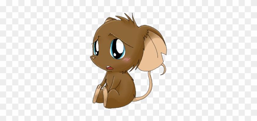 Cute Little Sad Mouse Clipart - Cartoon #19979