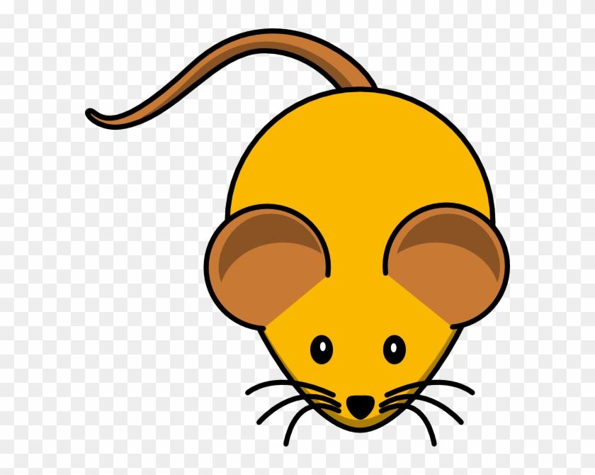 Orange Mouse W/ Brown Ears Clip Art At Clker - Myš Kreslená #19989