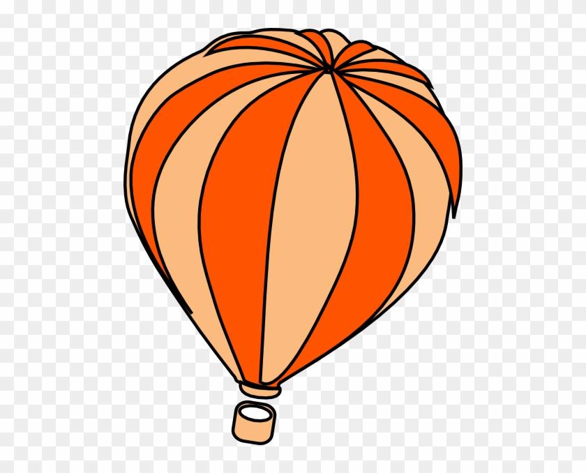 Clipart Info - Hot Air Balloon Orange #20002