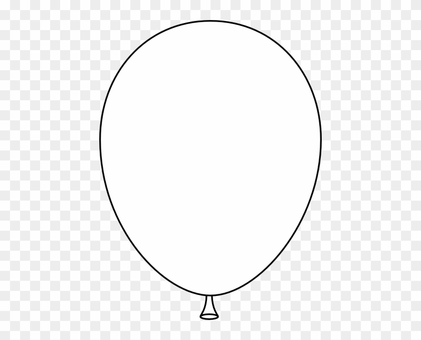 Single Balloon Black And White Clipart - White Balloon Vector Png #20034