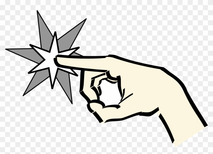 Hand Pointing At Star Clipart, Vector Clip Art Online, - Animated Pointing Hand #20045