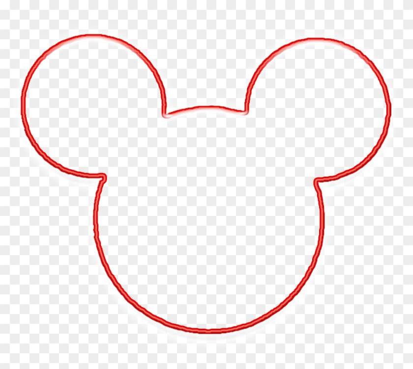 mickey mouse head outline tattoo clipart line art free