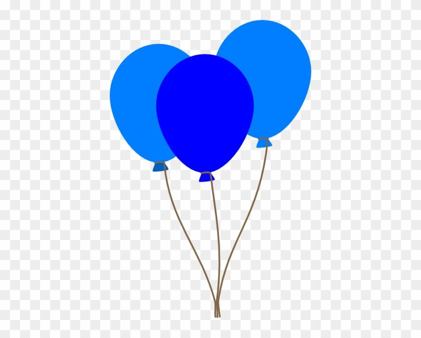 Heart Balloon Clip Art Image - Blue Balloons Clip Art #20090